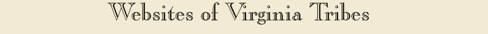 Website of Virginia Tribes